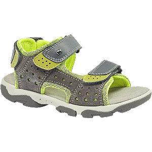 Sivo-zelené sandále na suchý zips Elefanten
