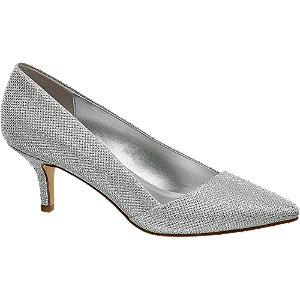 czółenka damskie Graceland srebrny