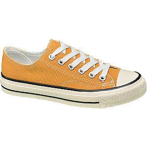 Sárga női vászoncipő
