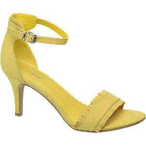 Sárga tűsarkú szandál