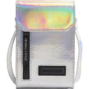 Stříbrná kabelka přes rameno Kendall + Kylie