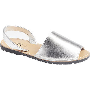 Stříbrné kožené sandály 5th Avenue