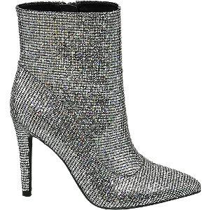 Stříbrné nízké kozačky Rita Ora