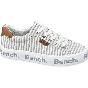 Szürke csíkos platform sneaker