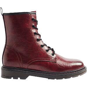 Tmavočervená šnurovacia obuv so zipsom Catwalk