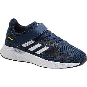 Tmavomodré tenisky na suchý zips Adidas Runfalcon 2.0