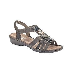 Tmavosivé komfortné sandále Rieker.
