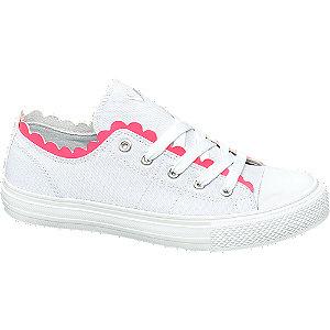 Leinen Sneaker in Weiß