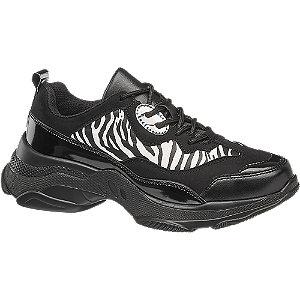 Zebramintás fashion sneaker