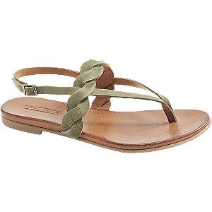 Zelené kožené sandály 5th Avenue