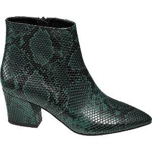 Zelené členkové čižmy so zvieracím vzorom Rita Ora
