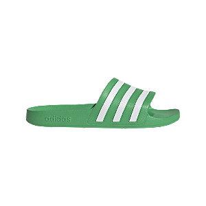 Zelené plážové šľapky Adidas Adilette Aqua