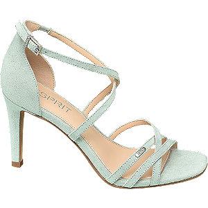 Zelené sandále na podpätku Esprit