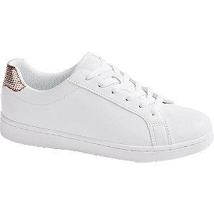 białe sneakersy damskie Graceland ze złotym elementem
