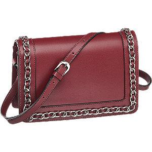 bordowa torebka damska Graceland ozdobiona łańcuszkiem