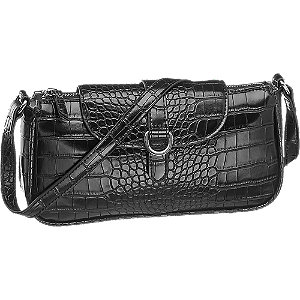 czarna torebka damska Graceland we wzór skóry krokodyla