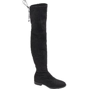 czarne kozaki Graceland za kolano na niskim obcasie