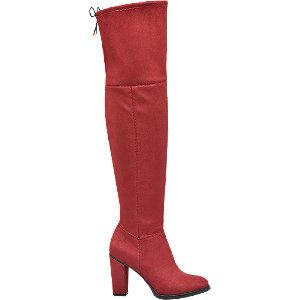 czerwone kozaki damskie Graceland za kolano