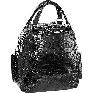 Černá kabelka Graceland se zvířecím vzorem