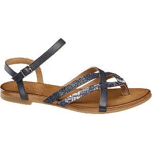 Černé kožené sandály 5th Avenue