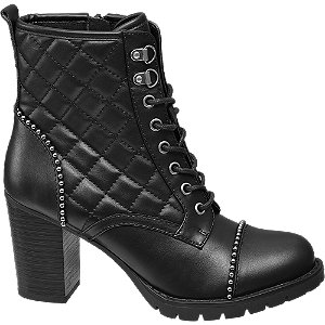 Černá šněrovací obuv Catwalk se zipem
