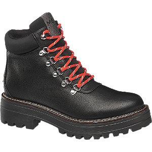 Černá šněrovací obuv Mexx se zipem