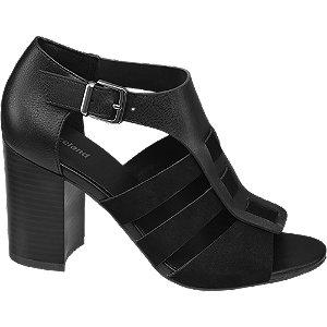 Černé sandály na podpatku Graceland