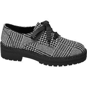 Černobílé polobotky Catwalk