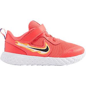 Červené detské tenisky na suchý zips Nike Revolution 5