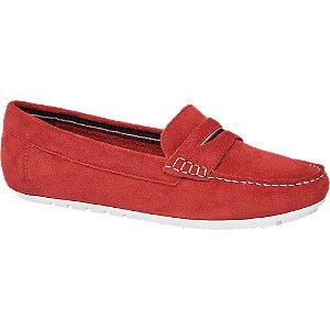 Červené kožené mokasíny 5th Avenue