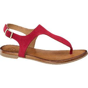 Červené kožené sandále 5th Avenue