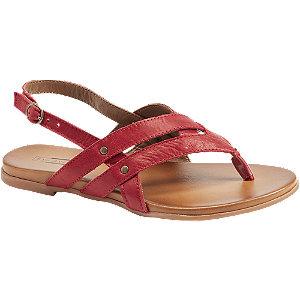 Červené kožené sandály 5th Avenue