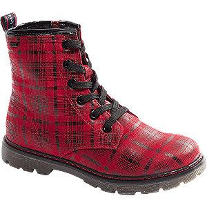 Červená šnurovacia obuv so zipsom Tom Tailor s TEX membránou.