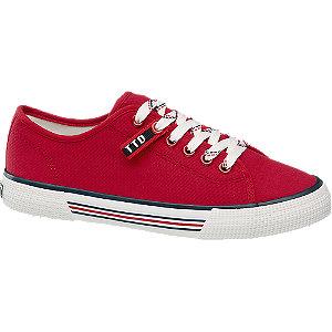 Červené plátěné tenisky Tom Tailor