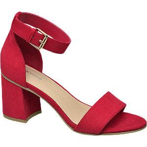 Červené sandály na podpatku Graceland