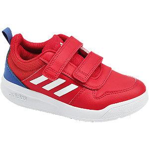 Červené tenisky na suchý zips Adidas Tensaur C