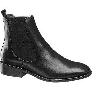 Čierna kožená Chelsea obuv 5th Avenue
