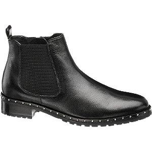 Čierna kožená Chelsea obuv 5th Avenue so zipsom