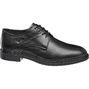 Čierna kožená komfortná spoločenská obuv Gallus.