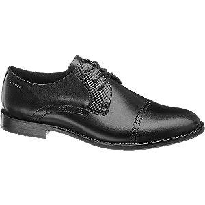 Čierna kožená spoločenská obuv Wojas