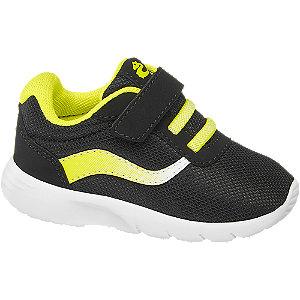 Čierne detské tenisky Bobbi Shoes na suchý zips