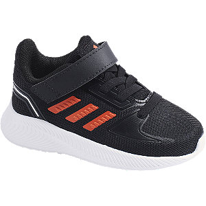 Čierne detské tenisky na suchý zips Adidas Runfalcon 2.0