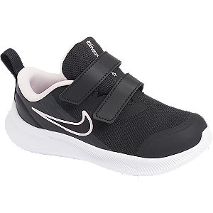 Čierne detské tenisky na suchý zips Nike Star Runner 3