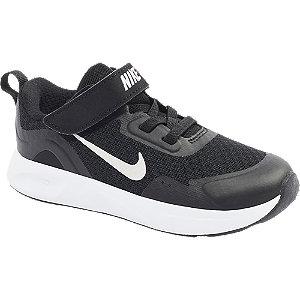 Čierne detské tenisky na suchý zips Nike Wear All Day