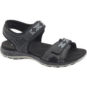 Čierne sandále na suchý zips Landrover