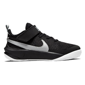 Čierne tenisky na suchý zips Nike Team Hustle