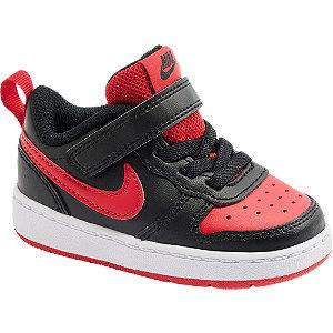 Čierno-červené detské tenisky Nike Court Borough 2