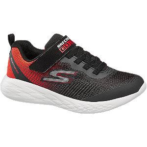 Čierno-červené tenisky na suchý zips Skechers