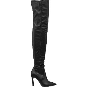Čižmy nad kolená Catwalk čierne