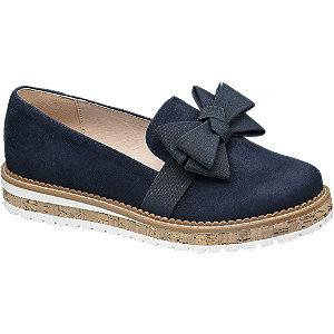 Éjkék masnis loafer